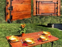 Раскладной стол своими руками — пошаговая инструкция по постройке и оформлению стильного дизайна (80 фото)