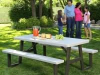 Столик для пикника: раскладные туристические модели и стационарные варианты для дачи (100 фото)