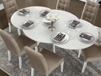 Раздвижной стол — 145 фото стильных и компактных современных обеденных моделей