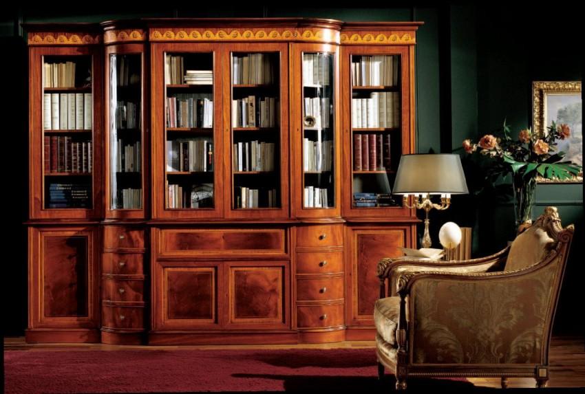 Книжный шкаф со стеклянными дверцами: купить в MebDeko