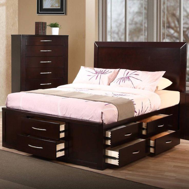 простые кровати двуспальные с ящиками для белья фото порт находится улице