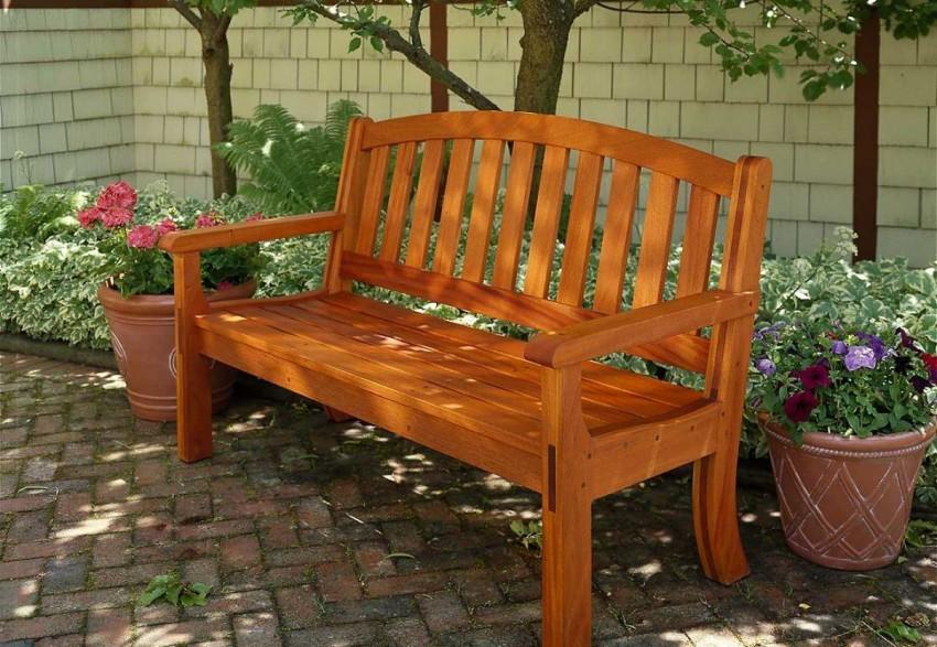 Скамейка из дерева своими руками для приусадебного участка