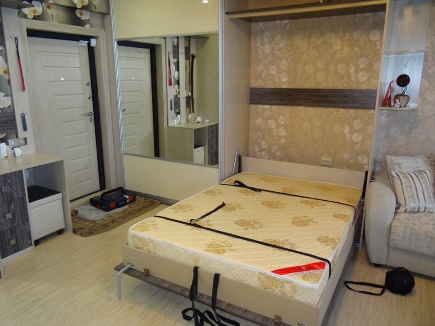 шкафы купе со встроенной кроватью фото тех