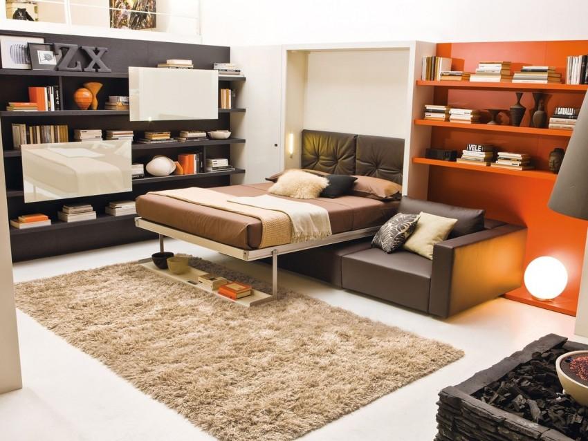Кровать-трансформер для подростков 31 фото модели со столом и шкафом для мальчиков и девочек как разобрать детскую конструкцию с комодом
