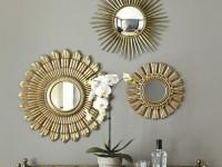 Зеркало солнце — использование популярного дизайнерского решения при украшении помещений (85 фото)