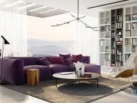 Фиолетовый диван: использование в современных интерьерах и правила подбора оттенка (135 фото)