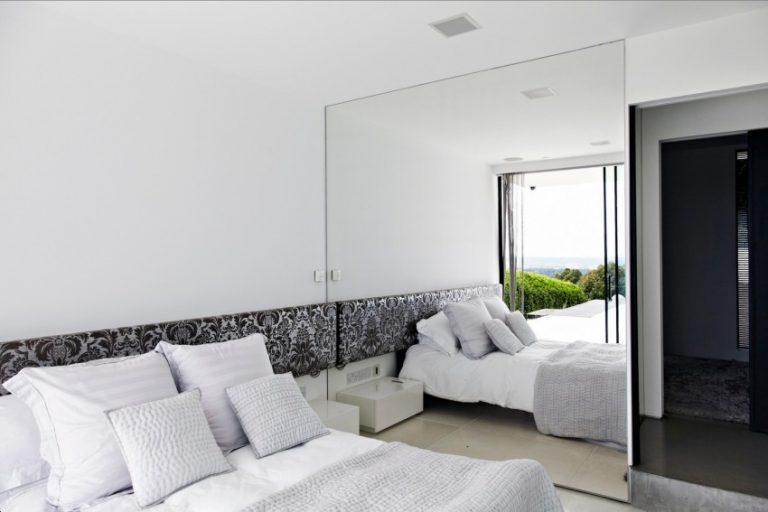 Full length mirror in bedroom